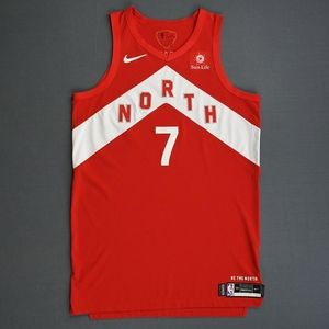 Kyle Lowry Red NORTH Nike Jersey Large